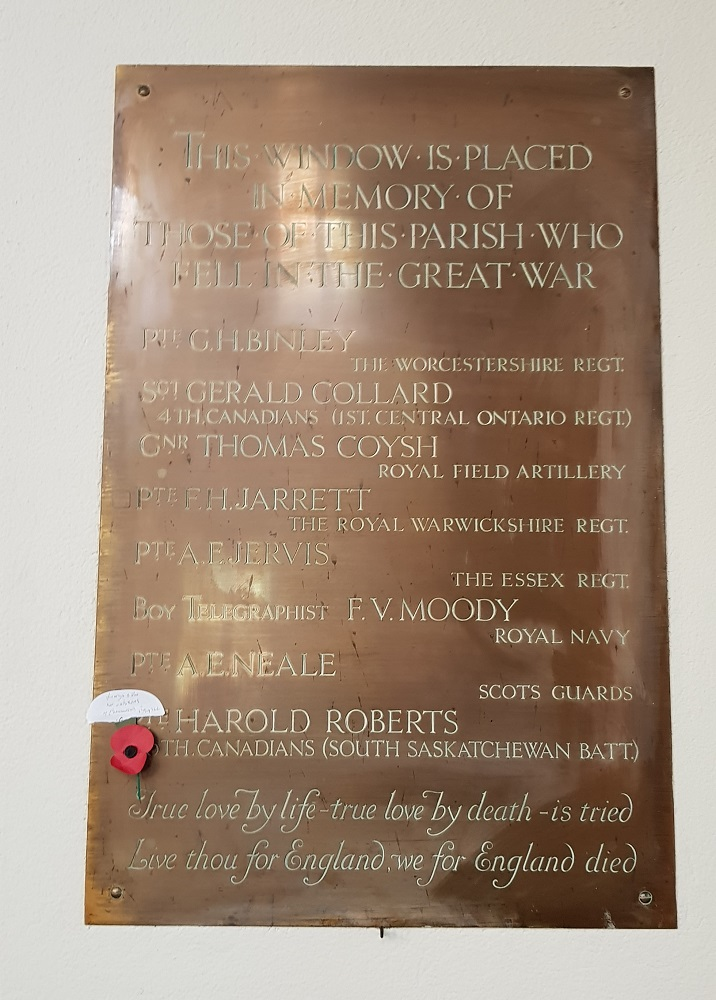 2.WW1 Plaque